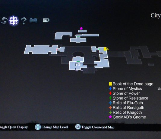 Darksiders II City of the Dead Floor 4 Collectibles Map