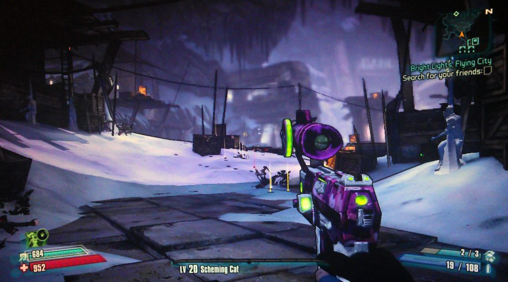Borderlands 2 Bright Lights, Flying City Walkthrough