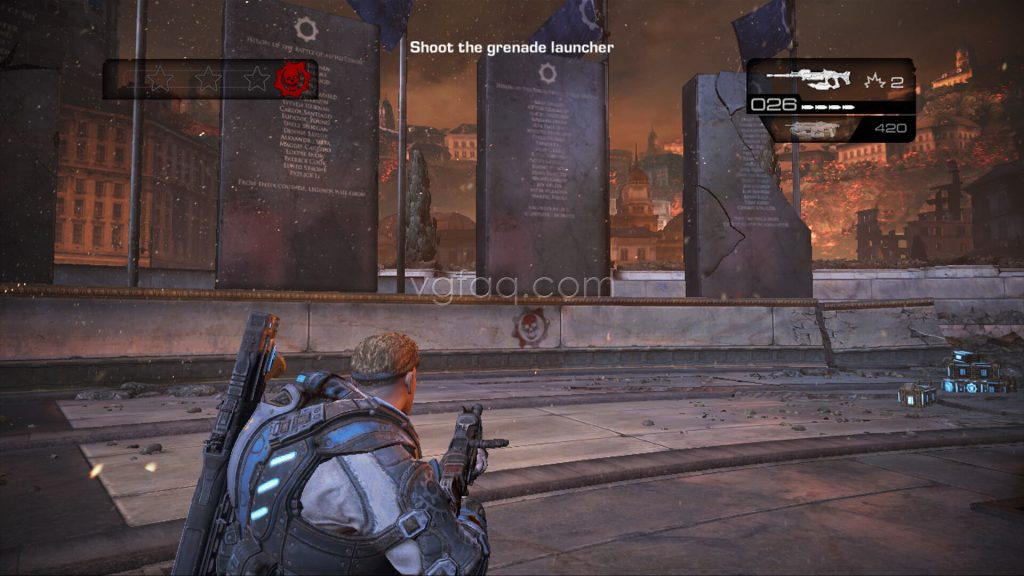 Gears of War Judgment Plaza for the Tyran Dead COG Tag Location