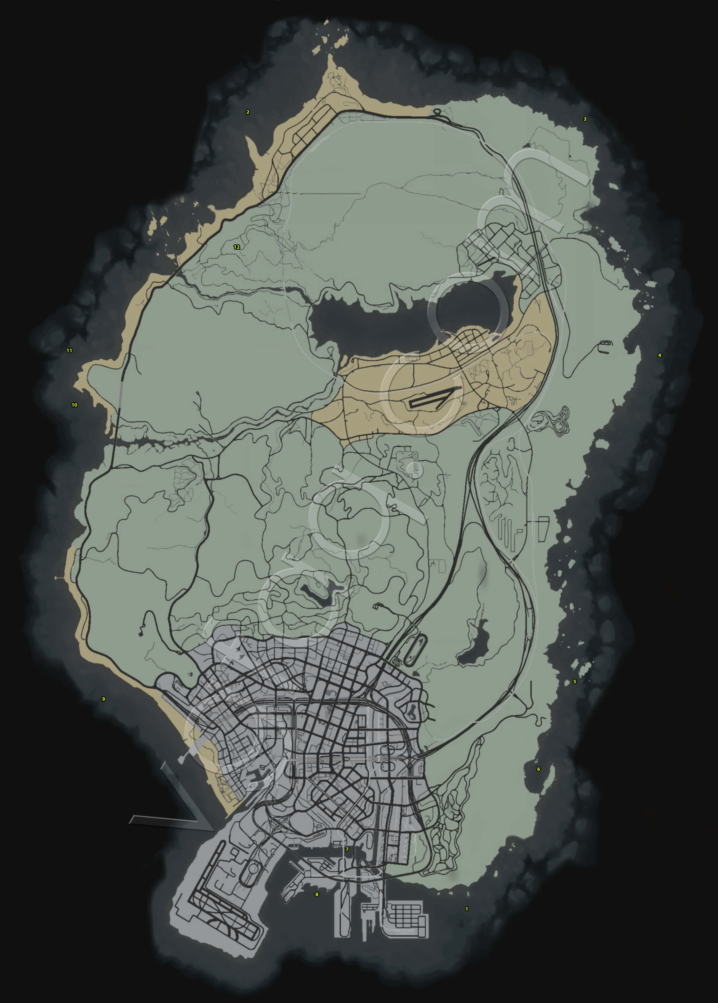 hidden locations theft grand auto packages gta map guide briefcase random vgfaq porch