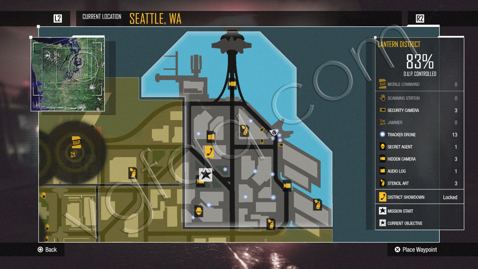 inFamous: Second Son Tracker Drones Locations - Video Games ... on infamous second son map, infamous blast shards, infamous dead drops,