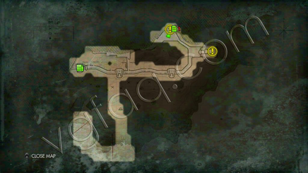 Wolfenstein: The New Order Deathshead's Compound Map #1