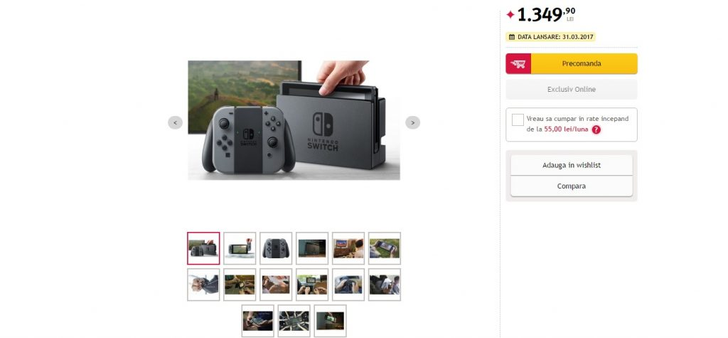 Nintendo Switch Price and Release Date Allegedly Leaked by Romanian Store