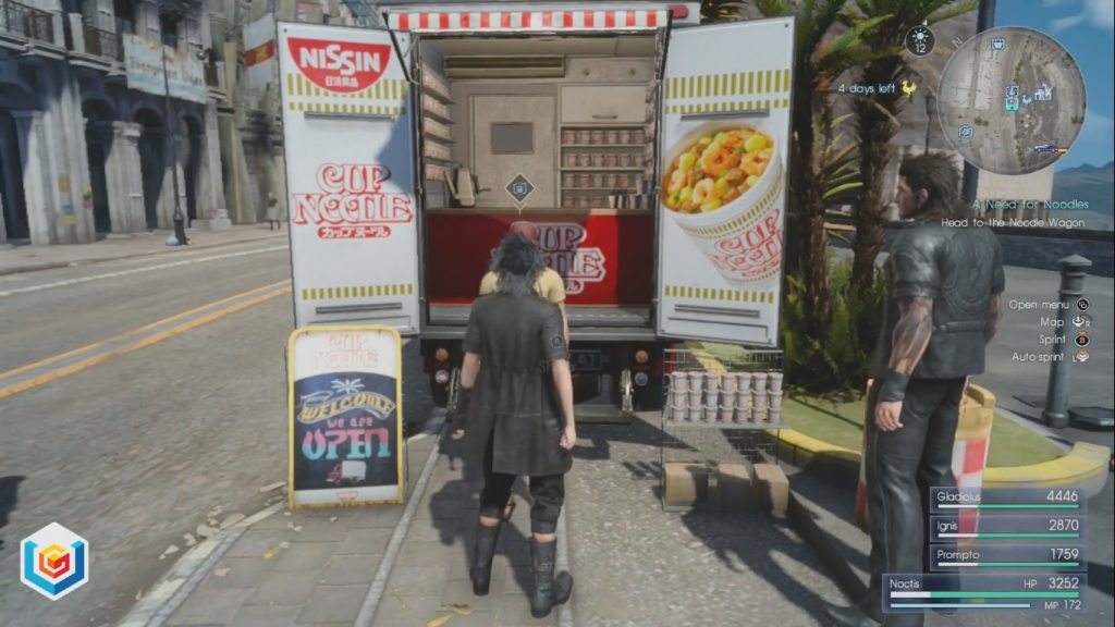 Final Fantasy XV A Need for Noodles Side Quest Walkthrough
