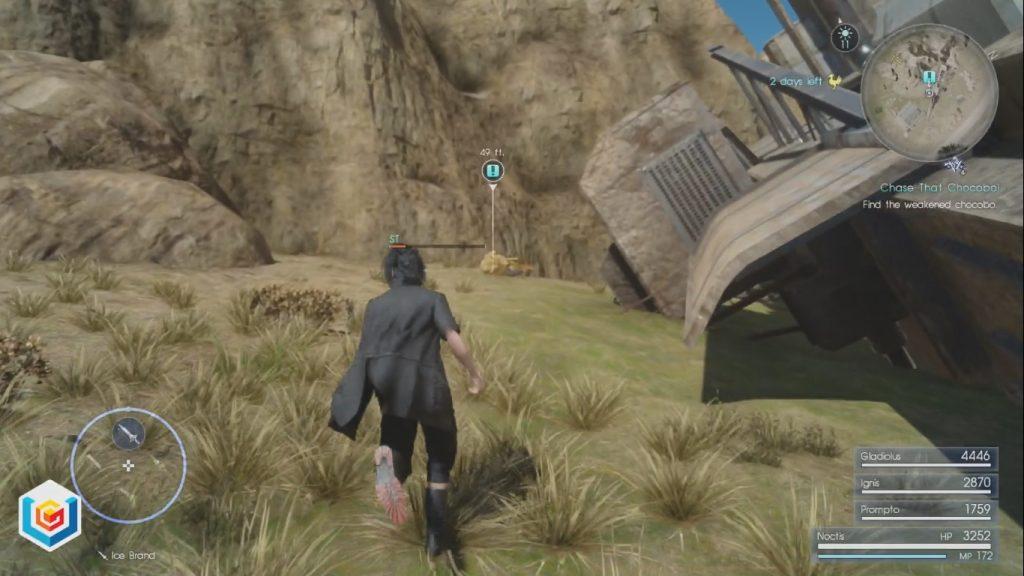 Final Fantasy XV Chase That Chocobo! Side Quest Walkthrough