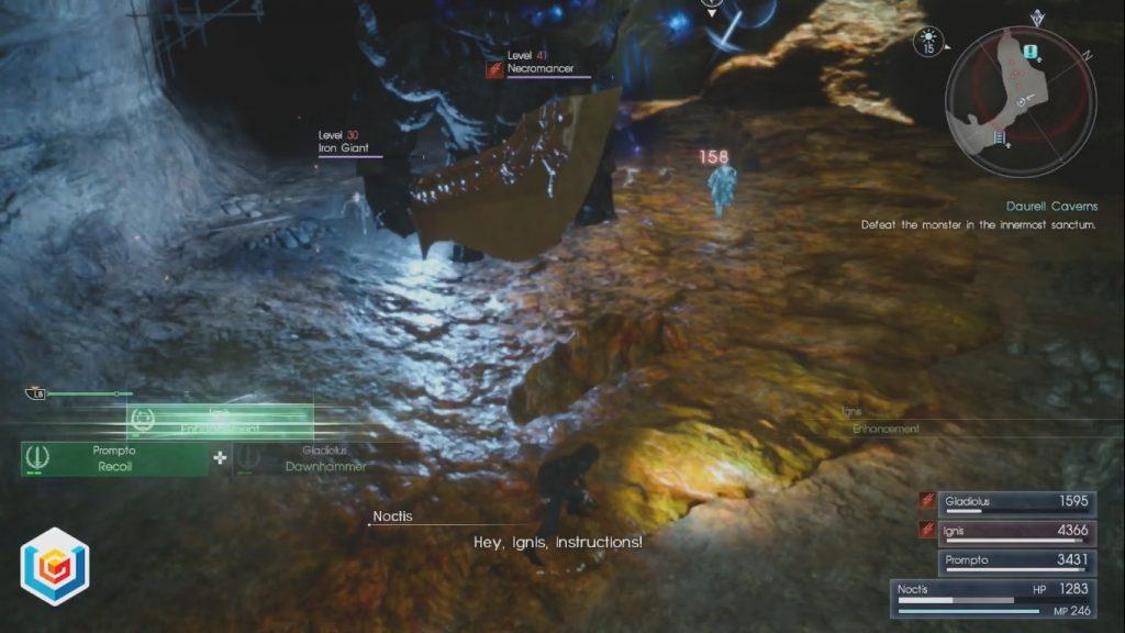Final Fantasy XV Daurell Caverns Side Quest Walkthrough