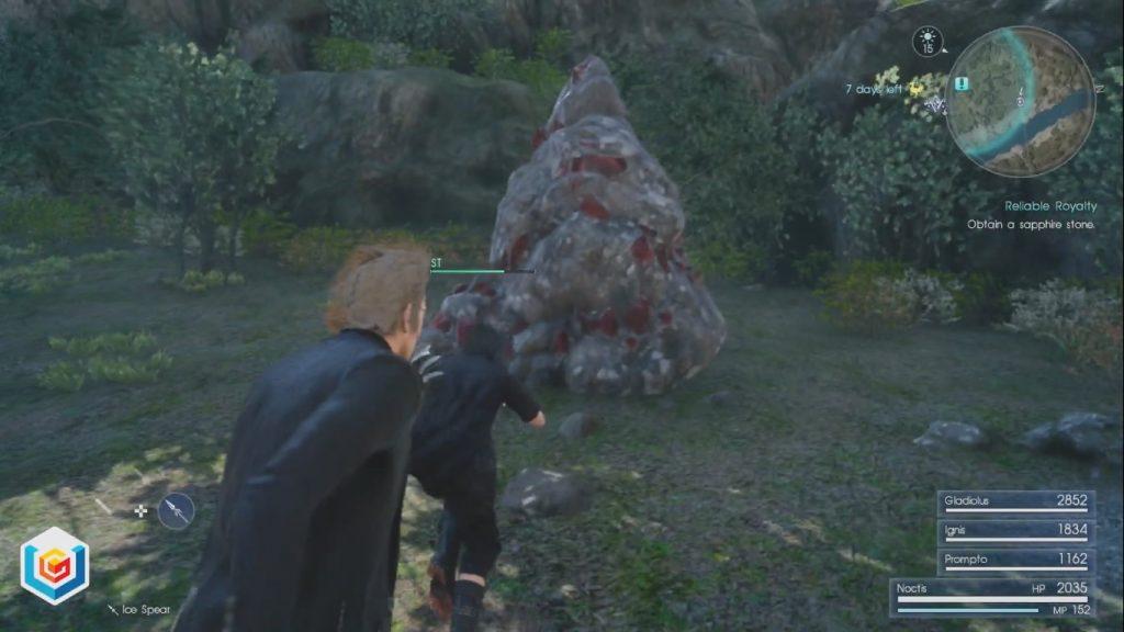 Final Fantasy XV Reliable Royalty Side Quest Walkthrough