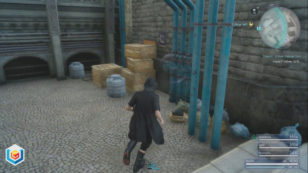Final Fantasy XV Steam Valve Inspection Side Quest Walkthrough