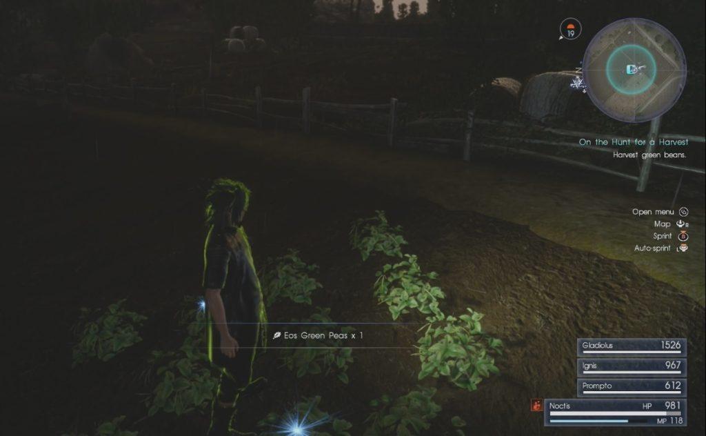 Final Fantasy XV On the Hunt for a Harvest Side Quest Walkthrough