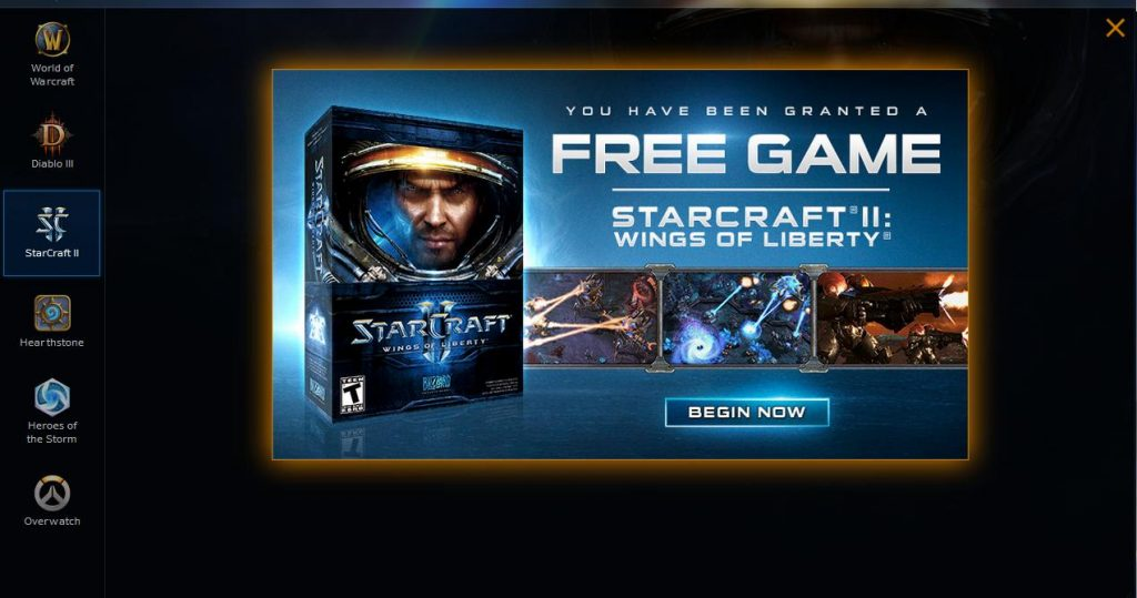 Free StarCraft II Wings of Liberty Copies Given Away By Blizzard
