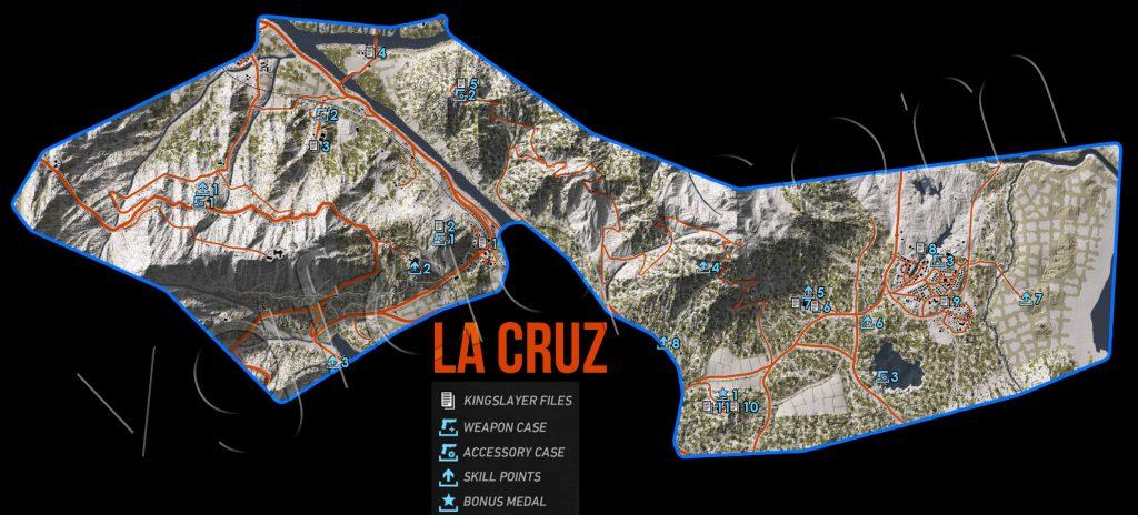 Ghost Recon: Wildlands La Cruz Collectables Map