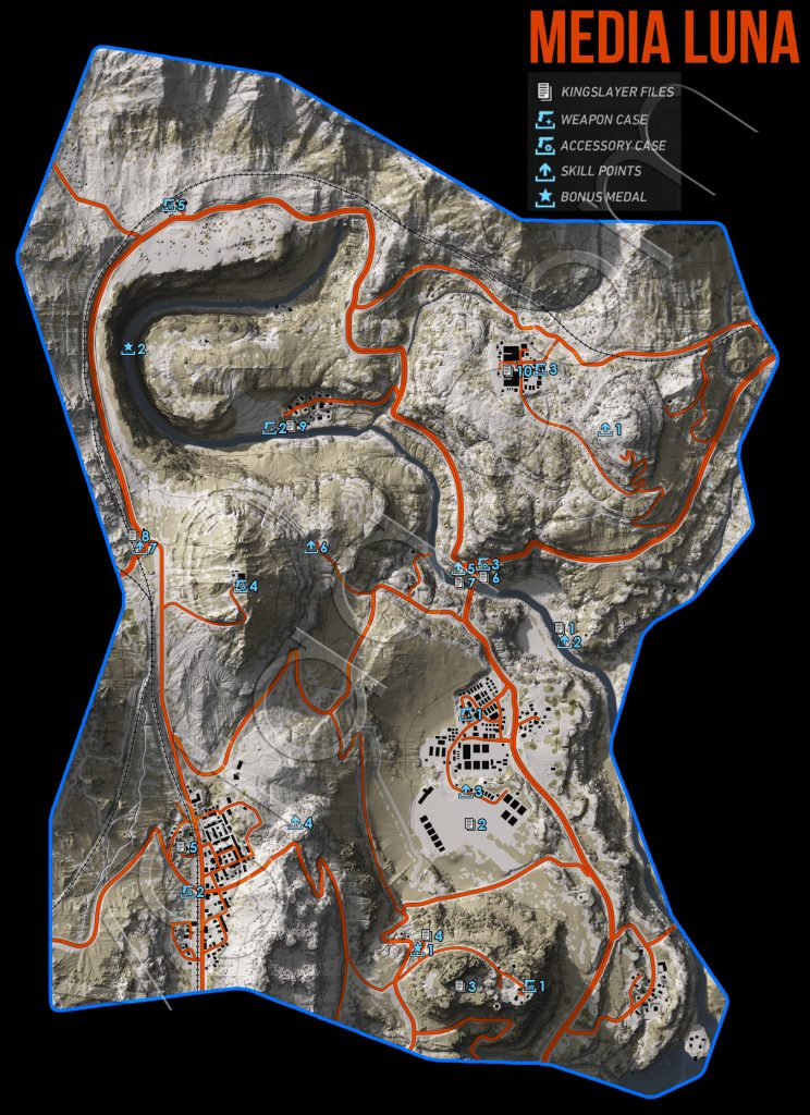 Ghost Recon Wildlands Media Luna Collectables Map