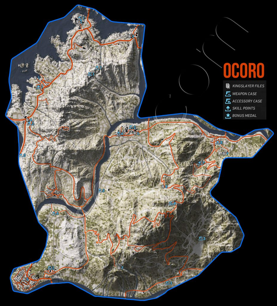 Ghost Recon: Wildlands Ocoro Collectables Map