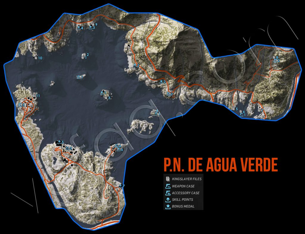 Ghost Recon: Wildlands P.N. De Agua Verde Collectables Map