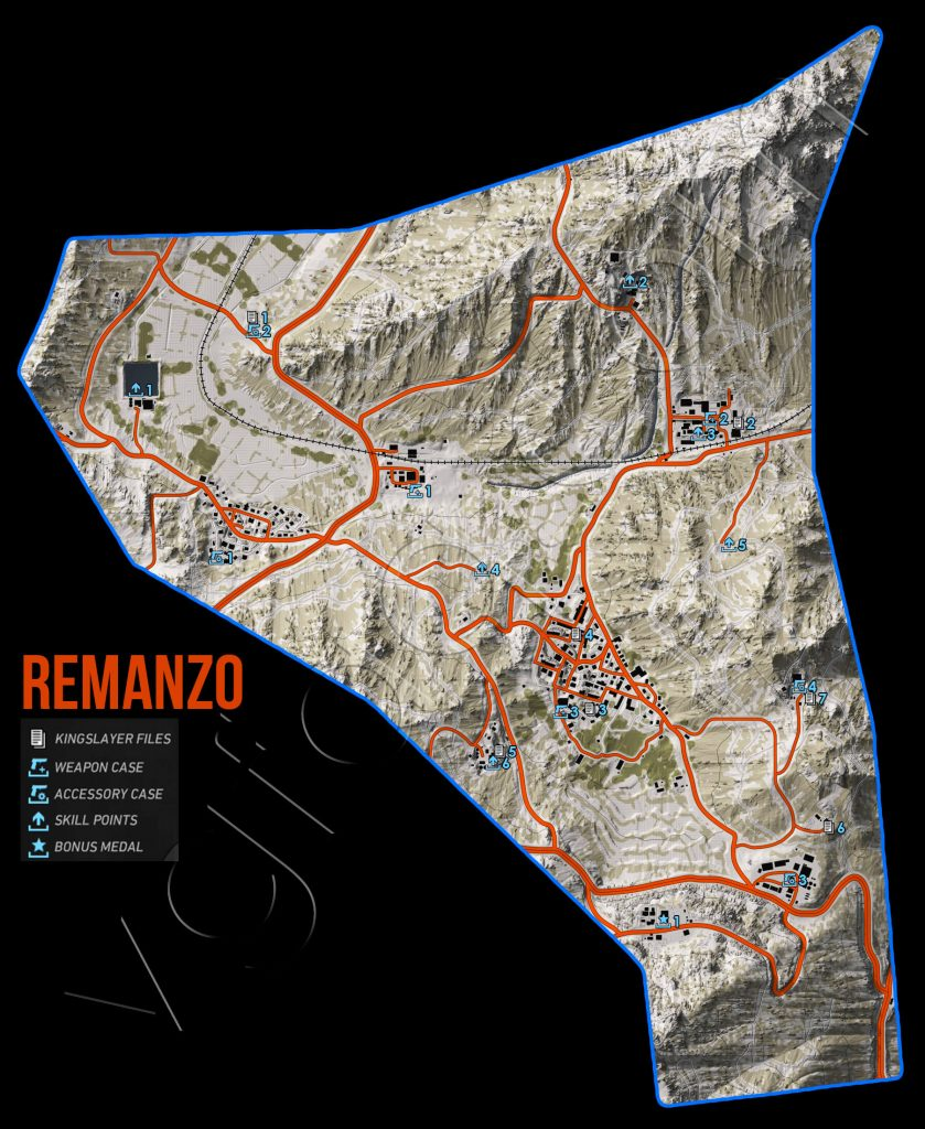 Ghost Recon Wildlands Remanzo Collectables Map