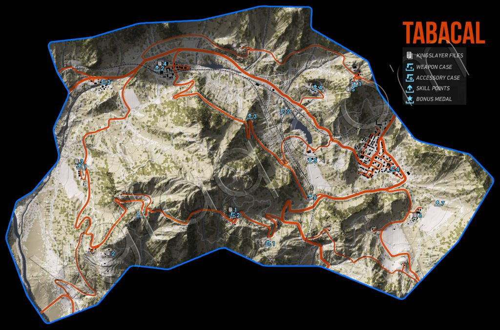 Ghost Recon: Wildlands Tabacal Collectables Map
