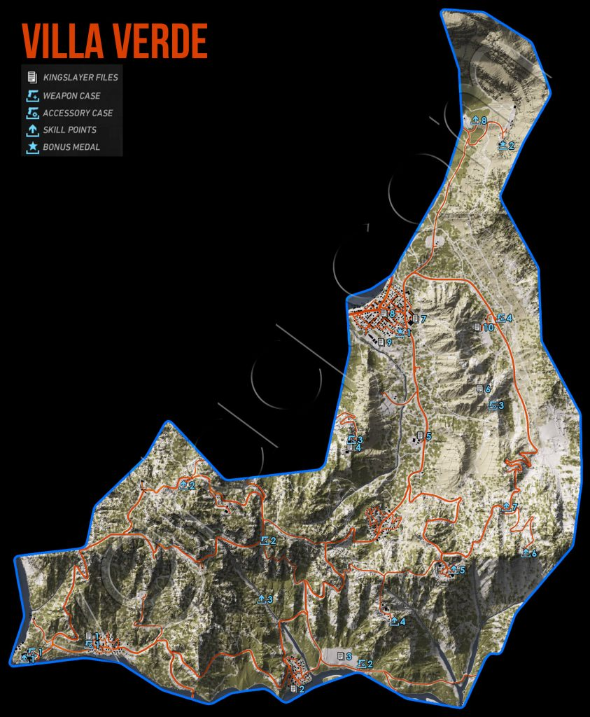 Ghost Recon Wildlands Villa Verde Collectables Map