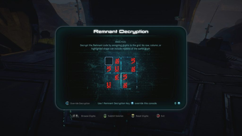 Mass Effect Andromeda Remnant Decryption Puzzle Solutions