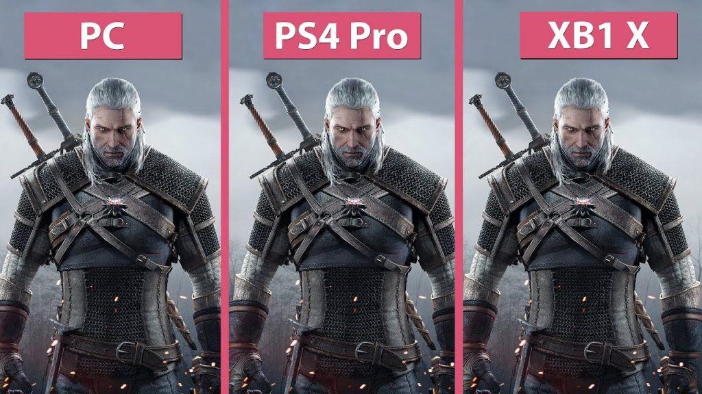 [4K] Witcher 3 – PC vs. PS4 Pro vs. Xbox One X 4K Mode ... Xbox One X Vs Ps4 Pro Graphics Comparison
