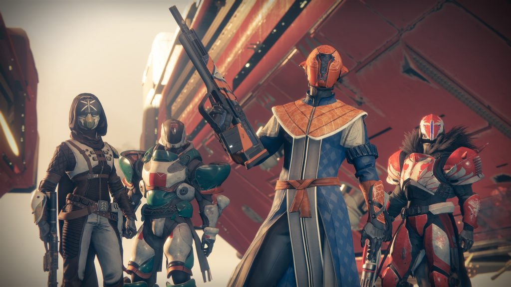Some dude posing with a gun in Destiny 2. This shit looks awesome? I'm so mad.
