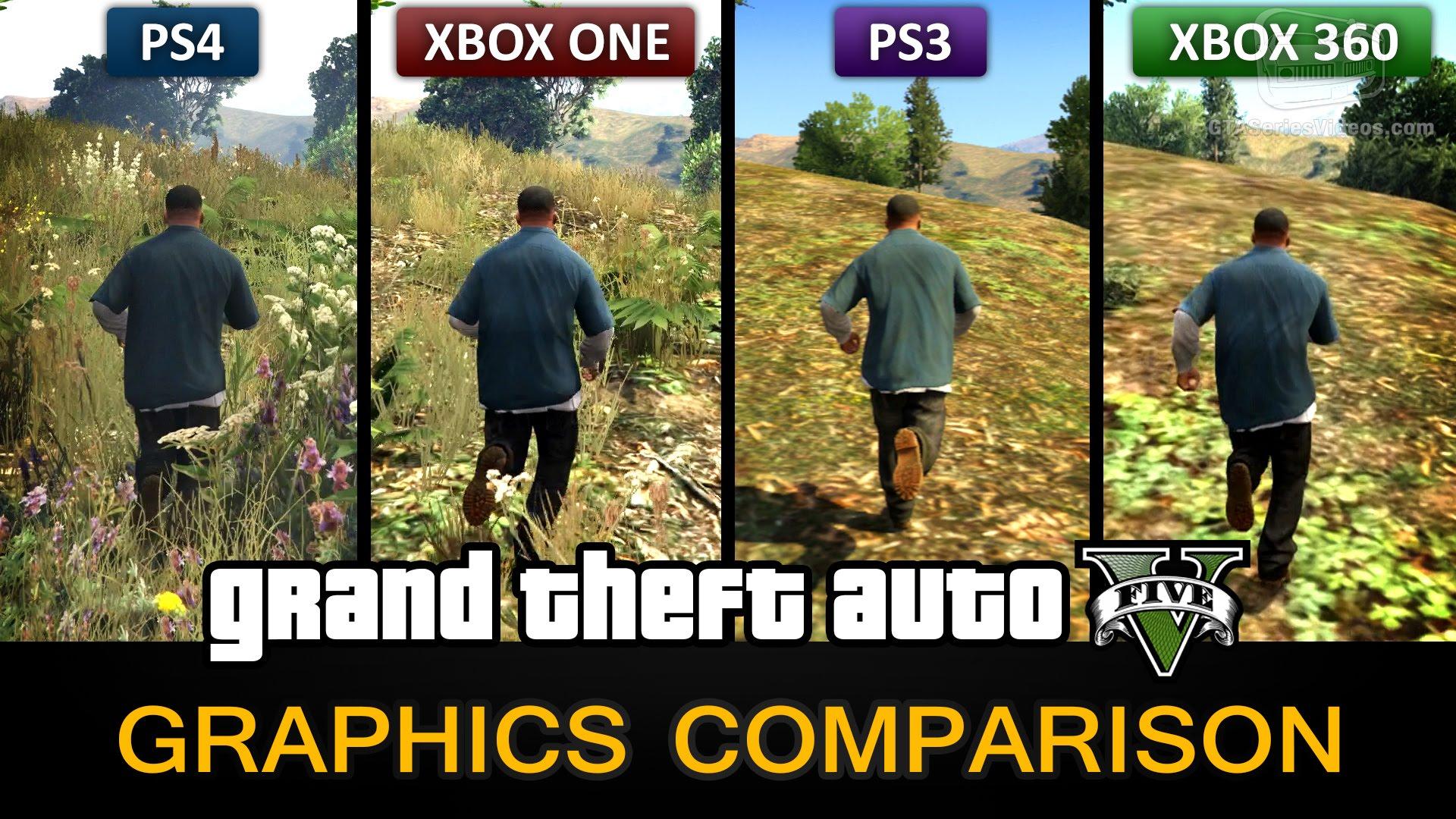 GTA 5 Graphics Comparison - PS4 / Xbox One / PS3 / Xbox 360