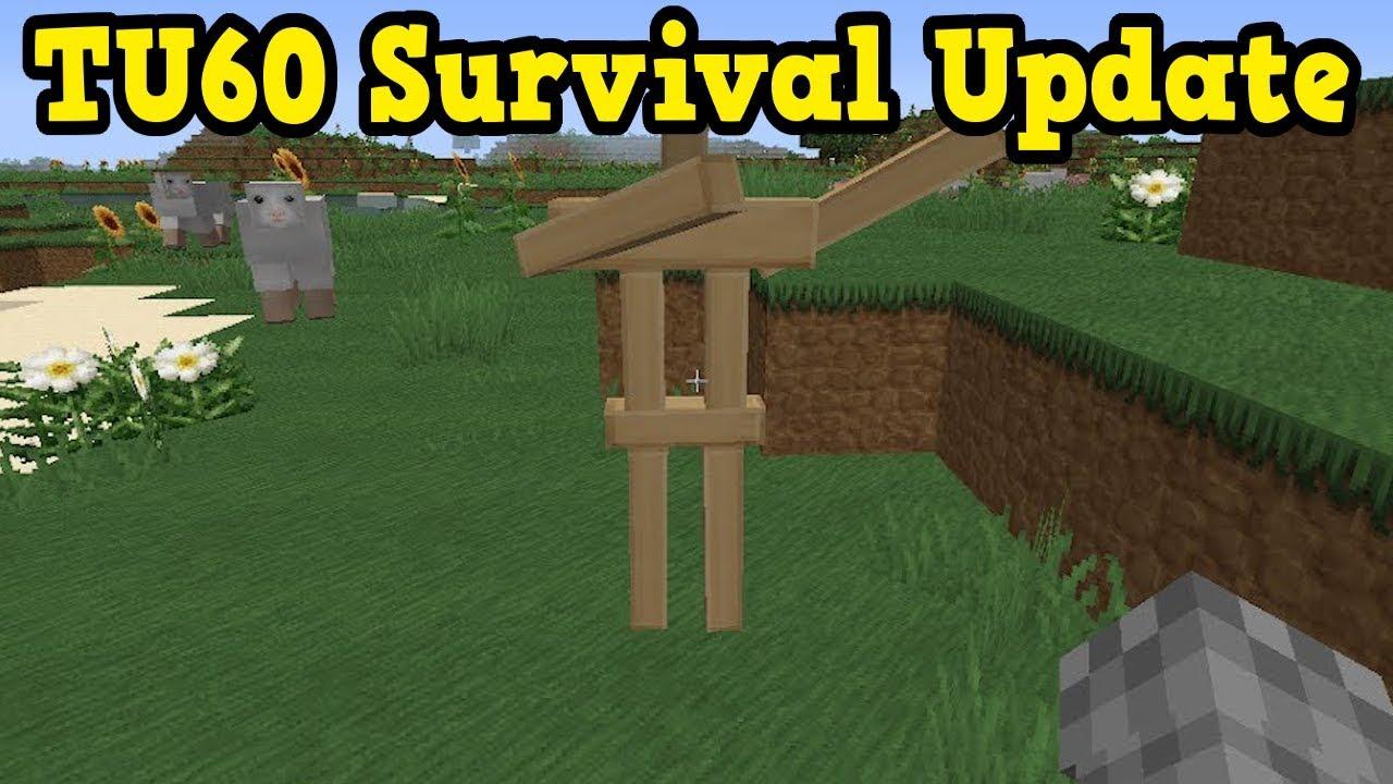 Minecraft Xbox 360 / PS4 TU60 Features - SURVIVAL UPDATE ...