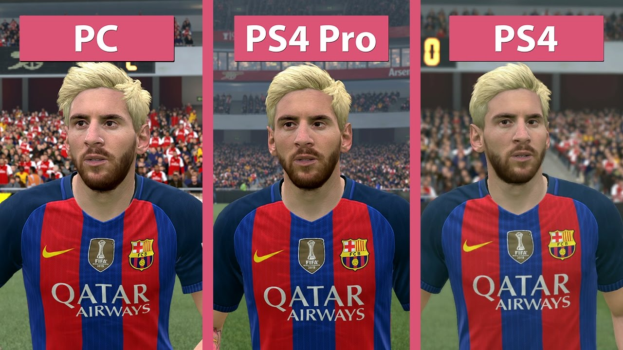 4K UHD | FIFA 17 – PC 4K vs  PS4 Pro 4K vs  PS4 Graphics