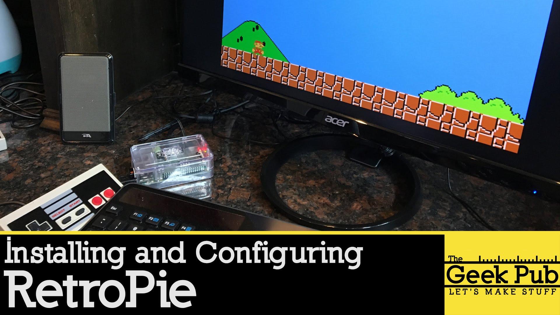 Setting up Retropie on a Raspberry Pi 3 for an Arcade
