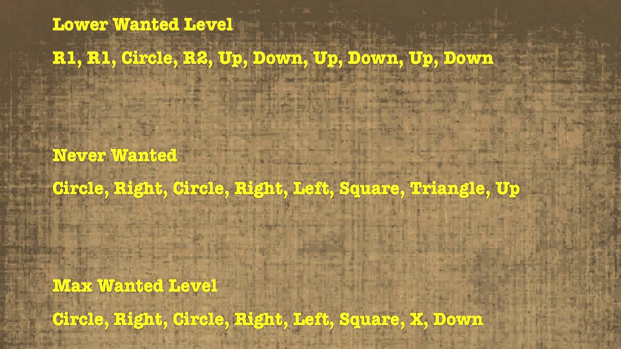 GTA San Andreas - All Cheat Codes (PS2 & PS3) - Video Games